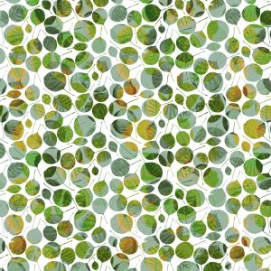 design textile feuilles vertes